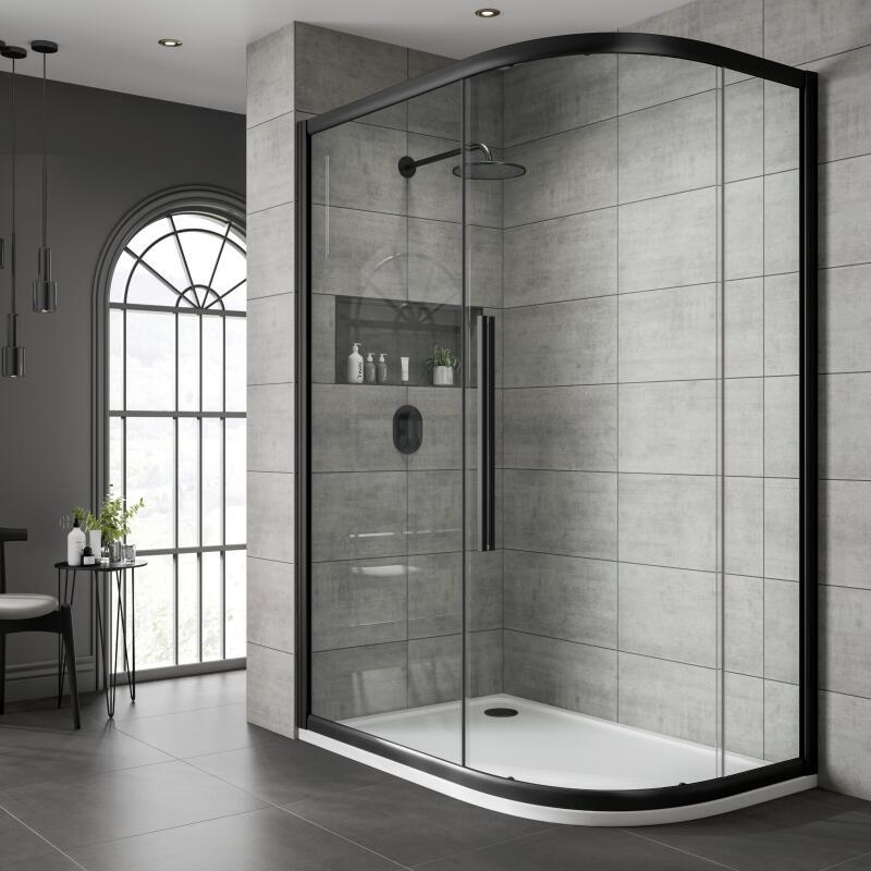 Offset Quadrant Shower Enclosure: 800mm x 900mm