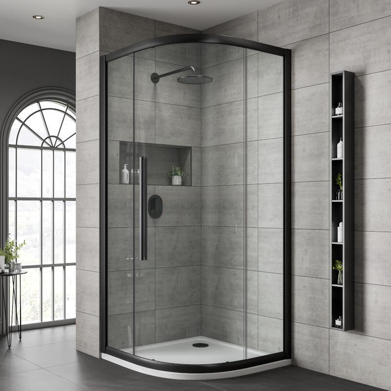 Jaquar Black Shower Enclosure Clear Glass Quadrant Buy Online At Bathroom City
