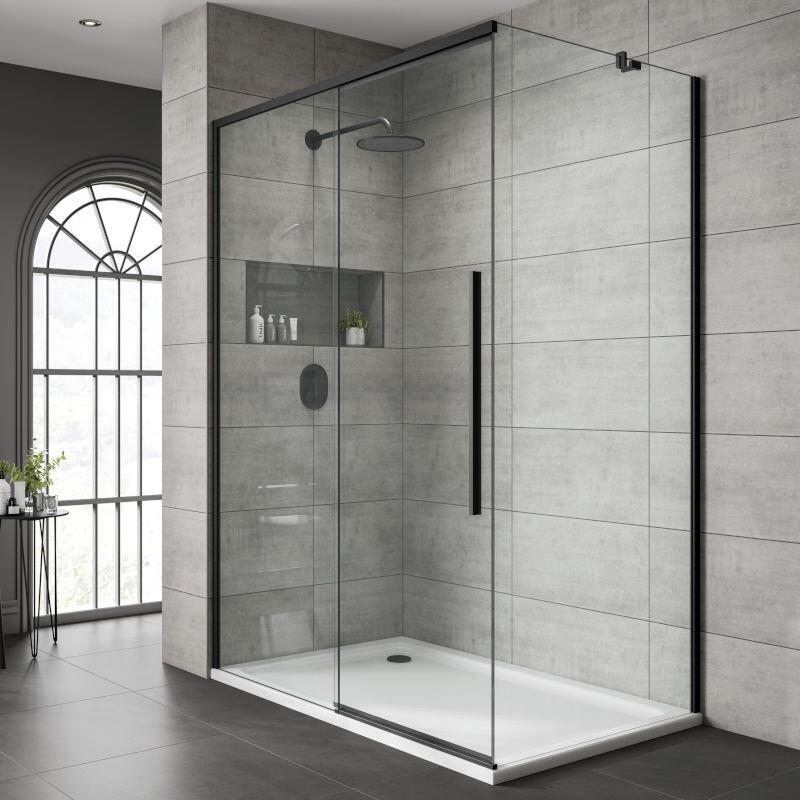 Sliding Shower Door: 1000mm Width, Left Hand