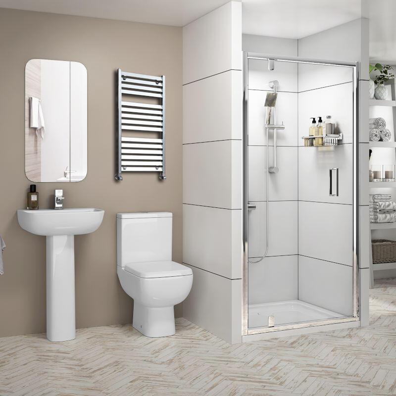 (OUT OF STOCK) Suite: Basin, Pedestal, Toilet, Shower Enclosure (700)