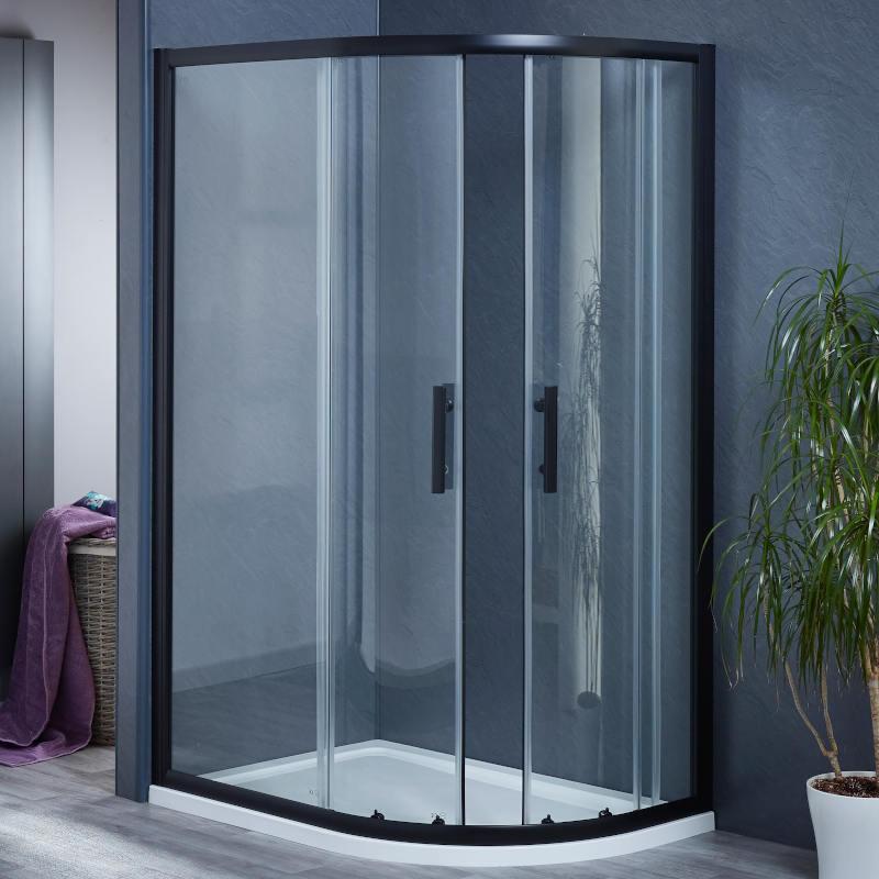 900 x 900 Black Quadrant 6mm enclosure