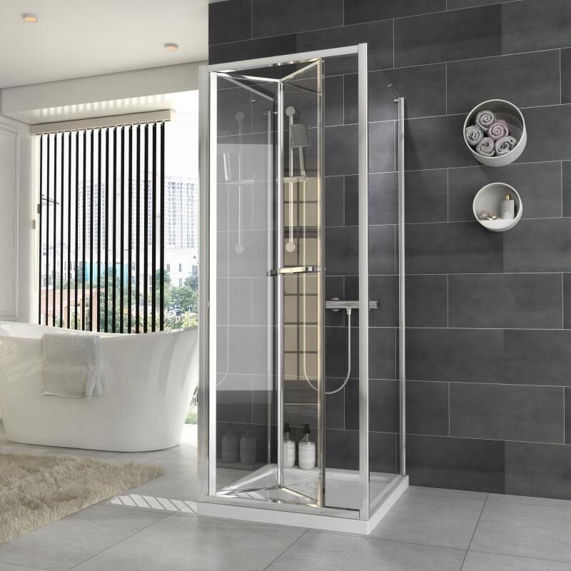 Bifold Shower Enclosure: W700 x D700mm