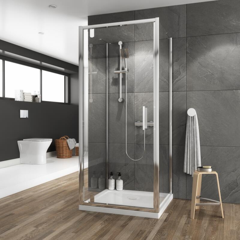 Pivot Shower Enclosure: W800 x D700mm