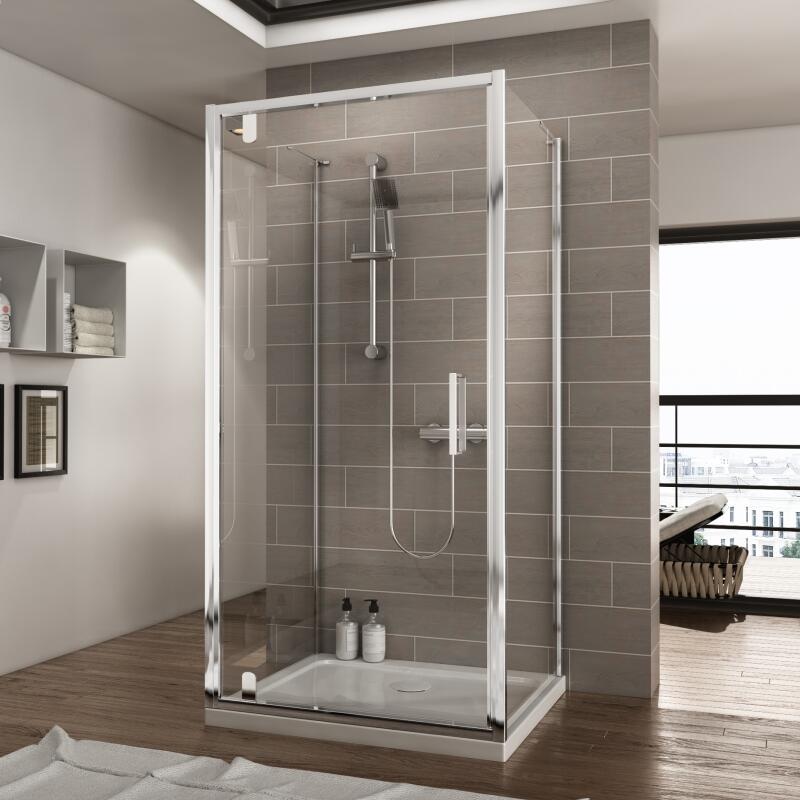 Pivot Shower Enclosure: W900 x D700mm