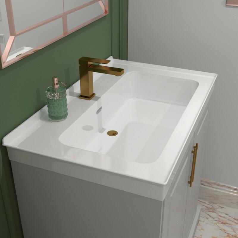 Chester Suite: Vanity Unit (Chrome Handles) and Toilet