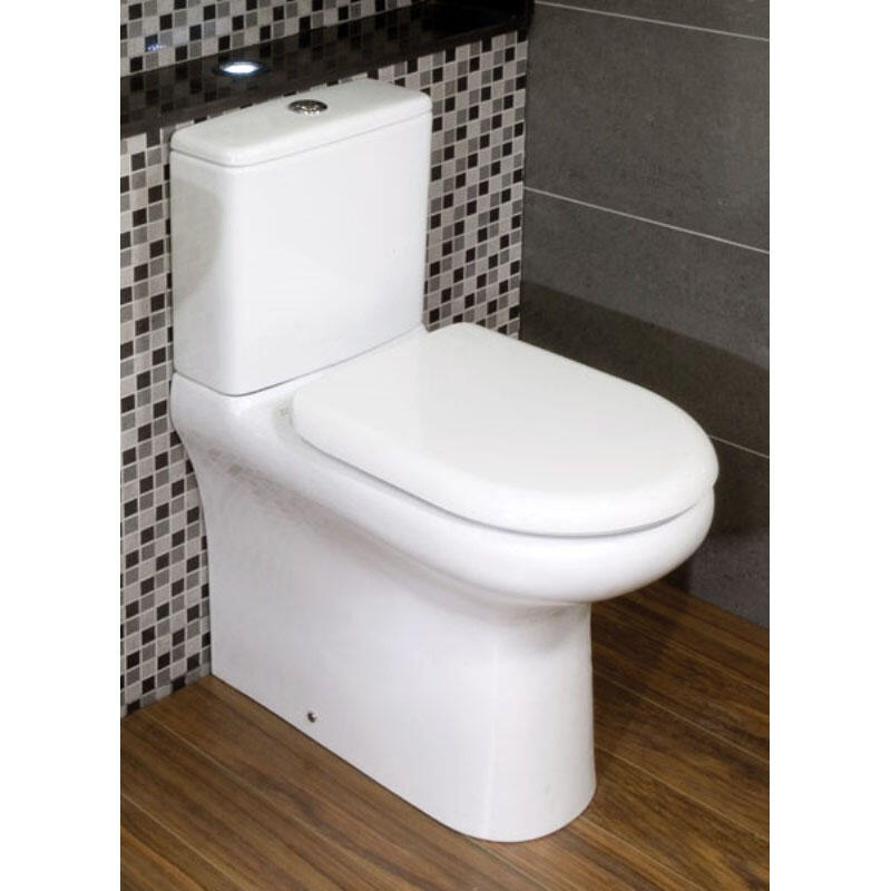 Rak Compact Deluxe Close Coupled Toilet with Soft Close Seat (rimless)