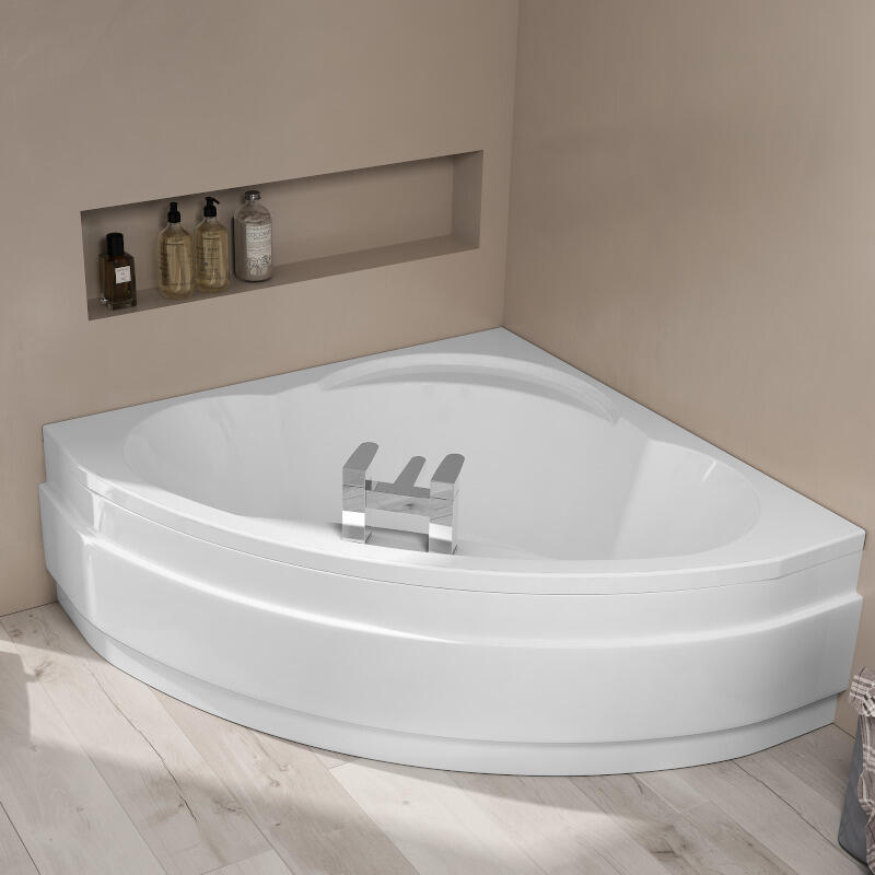 Laguna Plus 1450mm Corner Bath with Front Curved Bath Panel