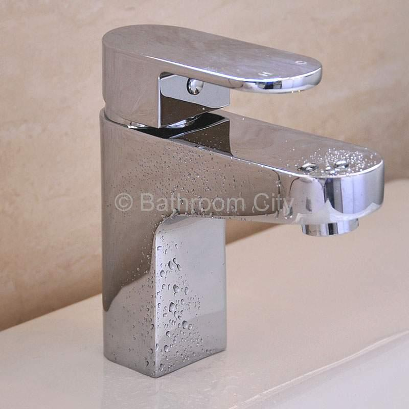 Virgo Modern Basin Mixer Tap with Click Waste in Chrome Finish