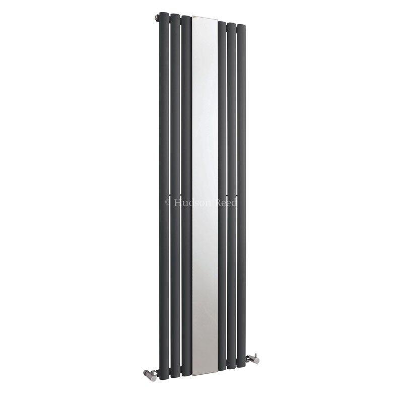 Grey REVIVE SINGLE PANEL RADIATOR WITH MIRROR 1800mm x 499mm