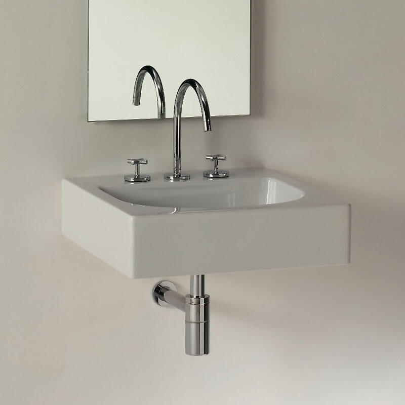 Luxor 600mm Wall Hung Basin with 1 Or 3 Tap Holes