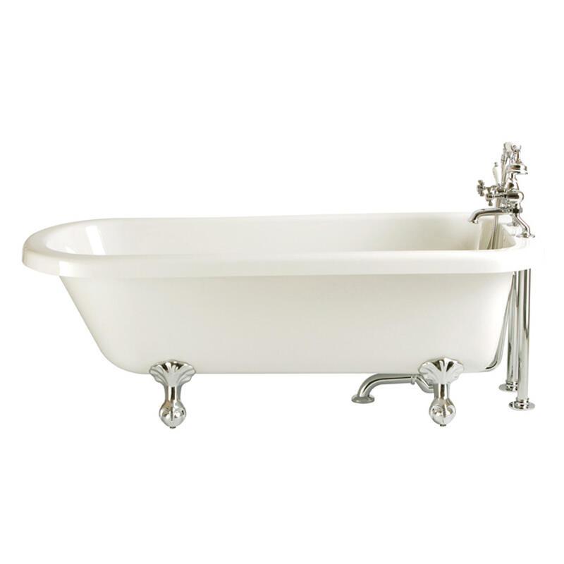 New Perth Single Ended Roll Top Bath 2tap inc feet chrome