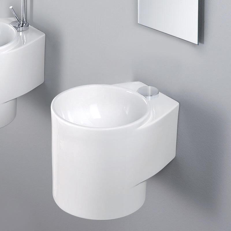 Celina White Ceramic Basin [L314]