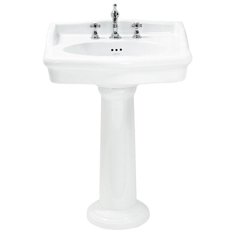 Victoria 65cm 3TH Basin White and ped