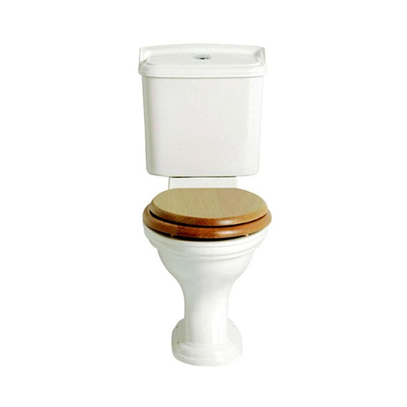 Dorchester White Pan Close coupled and portrait cistern