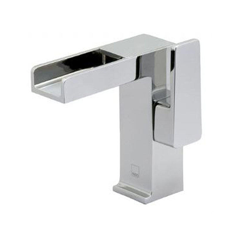 progressive mono basin mixer with waterfall spout single lever deck mounted smooth bodied no watse