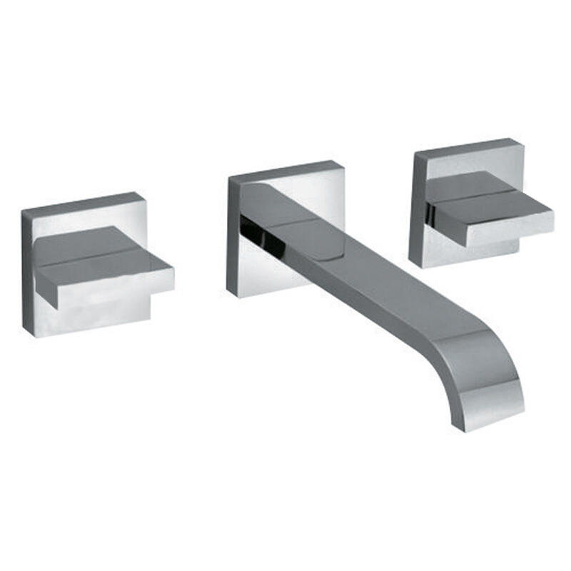 3 hole basin mixer wall mounted