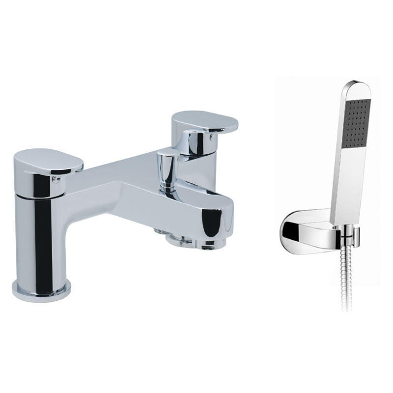 2 hole bath shower mixer deck mounted with shower kit