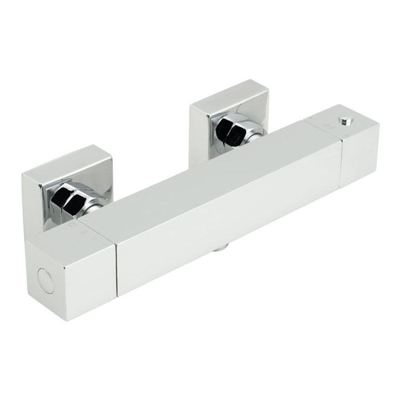 exposed thermostatic shower valve 1/2 wall mounted