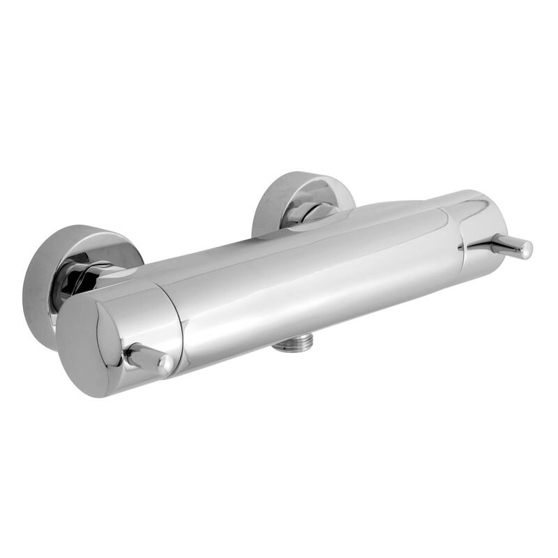 exposed thermostatic shower valve 3/4 wall mounted