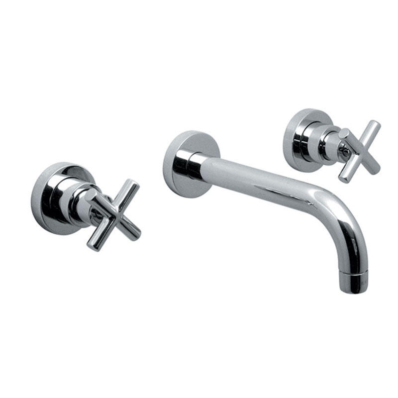 3 hole bath filler with 200mm spout wall mounted
