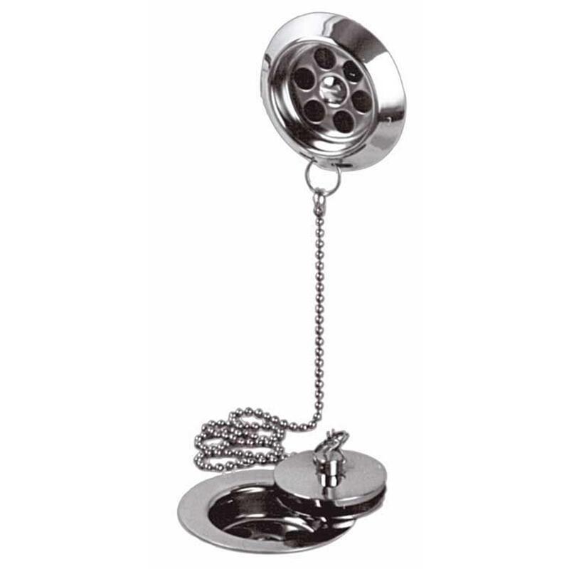 stowaway bath waste metal plug and chain 1.1/2