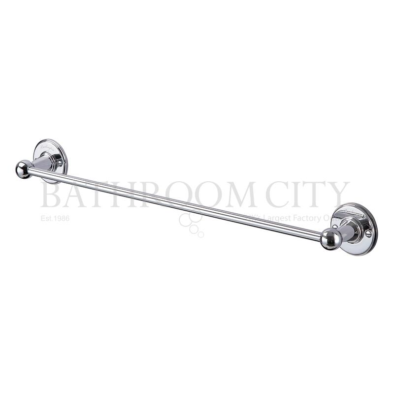 Burlington Single Towel Rail 55cm Chrome