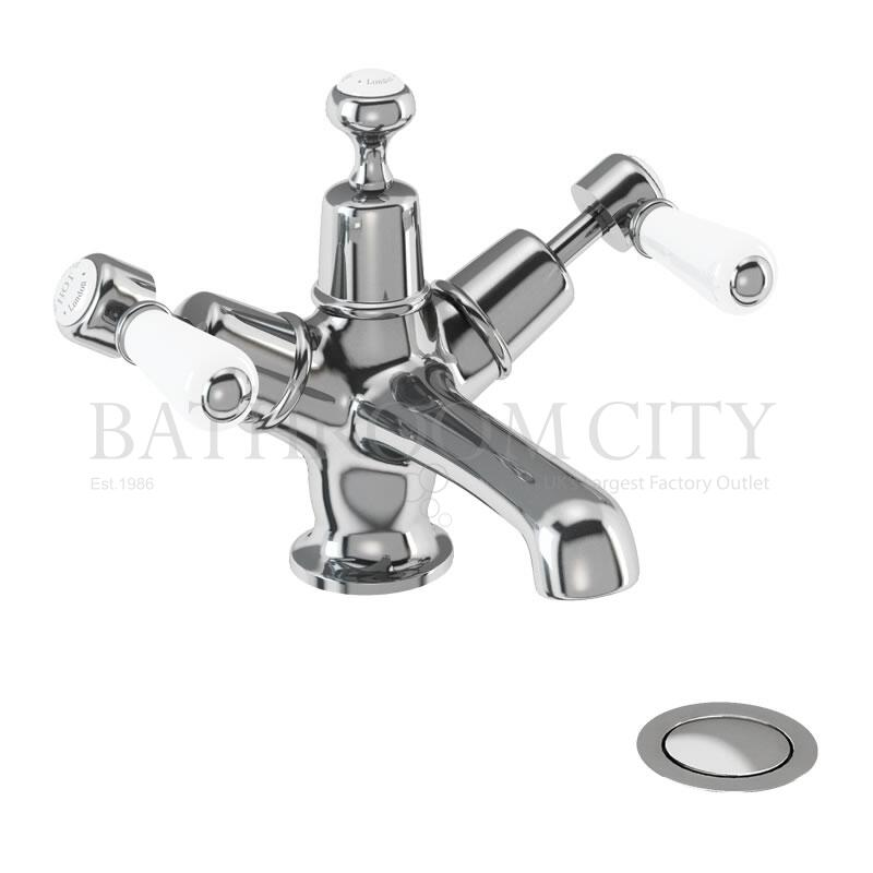 Kensington Basin Mixer with high central indice with click clack waste