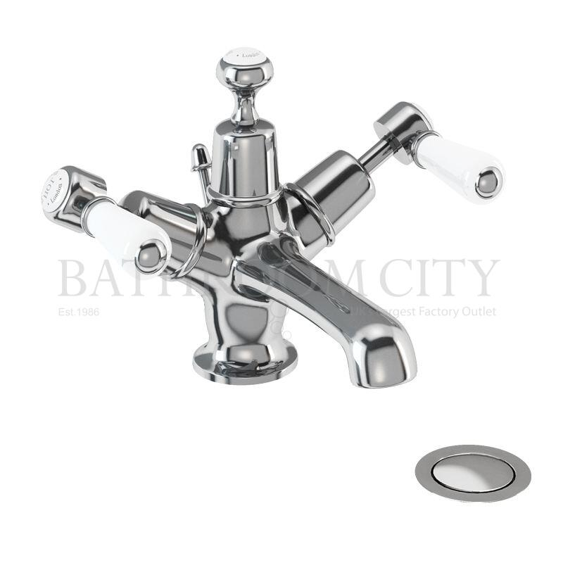 Kensington Basin Mixer with high central indice with pop up waste