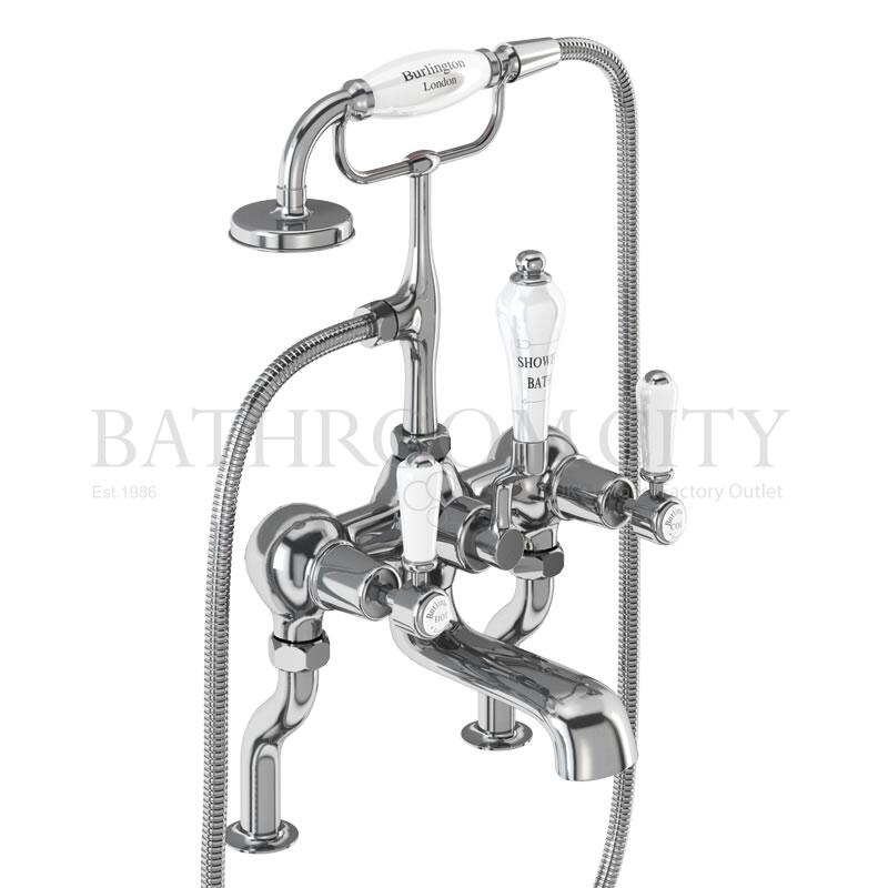 Kensington Bath shower mixer deck mounted with 'S' adjuster
