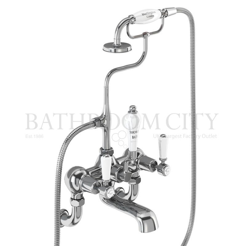 "Kensington Bath shower mixer wall mounted with ""S"" adjuster"
