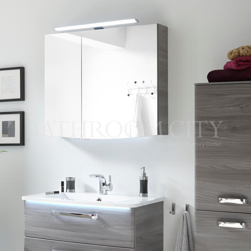 Solitaire 9020 Mirrored cabinet 2 mirrored doors 725x850x170 PG1