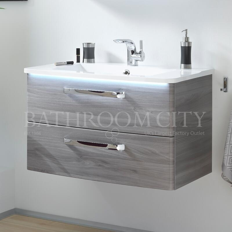 Solitaire 9020 vanity base cabinet 2 drawers and basin PG1