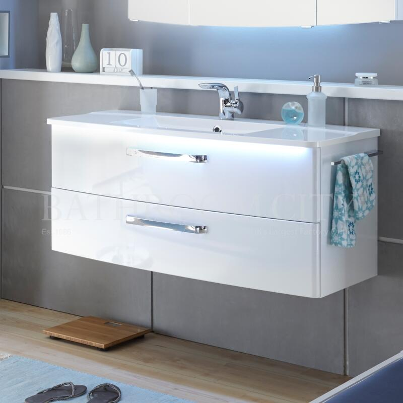 Solitaire 9020 vanity base cabinet 2 drawers 480x1100x480 PG1