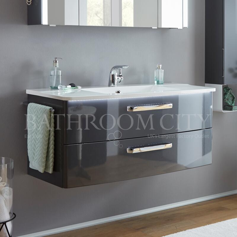 Solitaire 9020 vanity base cabinet 2 drawers 480x1400x500 PG1