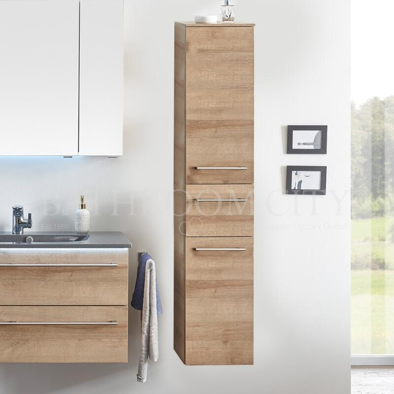 Solitaire 6025 tall cabinet 2 open shelf doors 1 drawer 1680x300x330 LH PG1