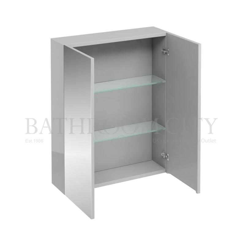 600mm wall cabinet with mirrors,light grey