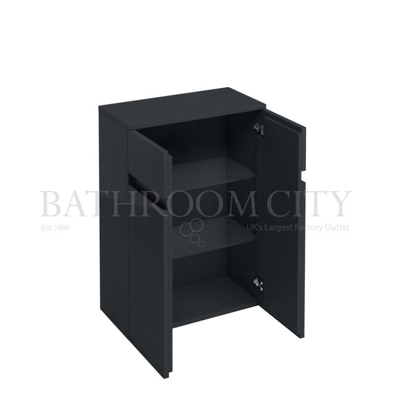 600mm double shelf unit,Anthracite grey