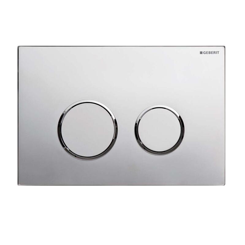 Sigma20 dual flush plate,chrome gloss