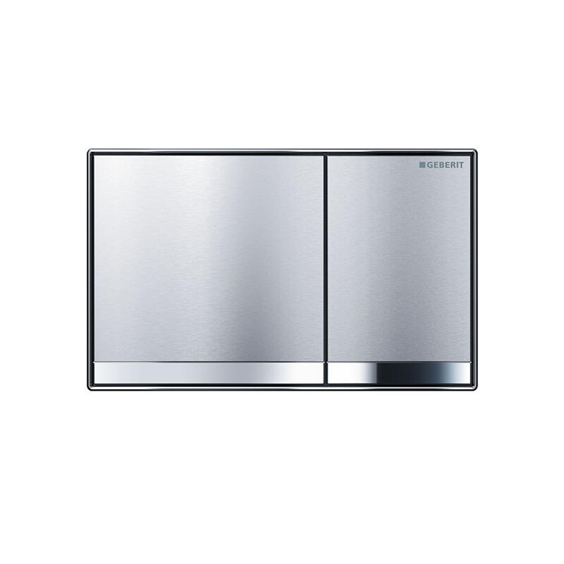 Sigma60 dual flush plate, Brushed Chrome