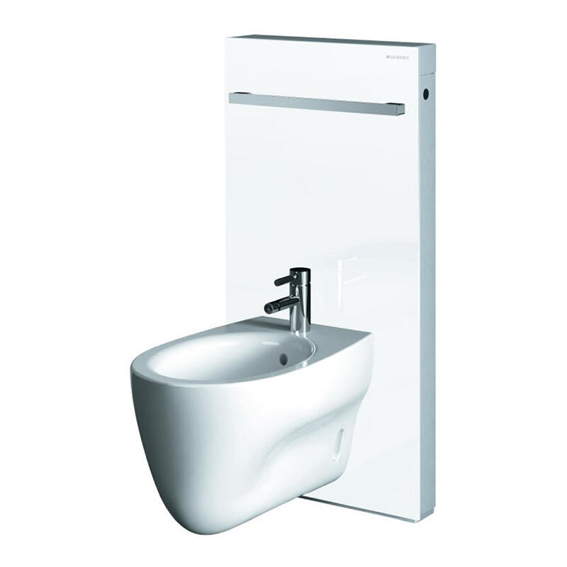 Monolith sanitary module bidet, H101,white glass