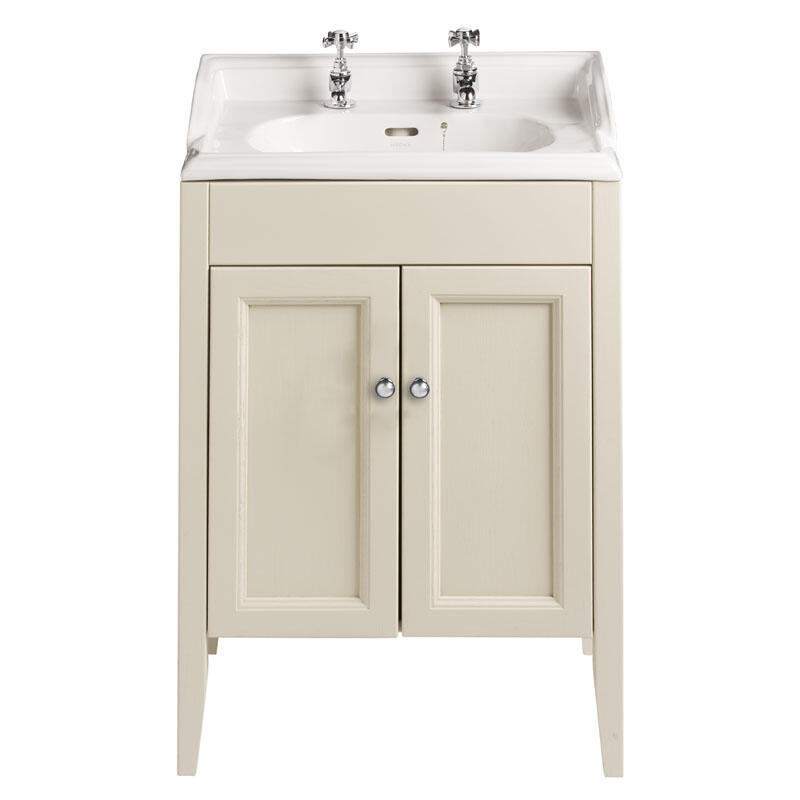 CLASSIC VANITY UNIT WITH DORCHESTER SQUARE BASIN IN OYSTER FINISH