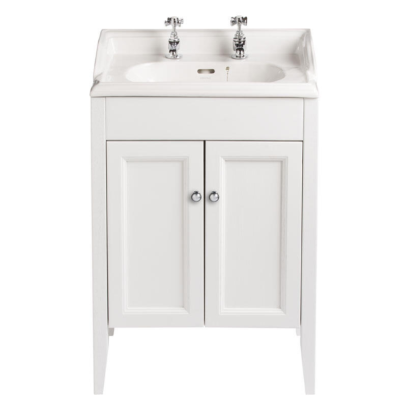CLASSIC VANITY UNIT WITH DORCHESTER SQUARE IN WHITE ASH FINISH