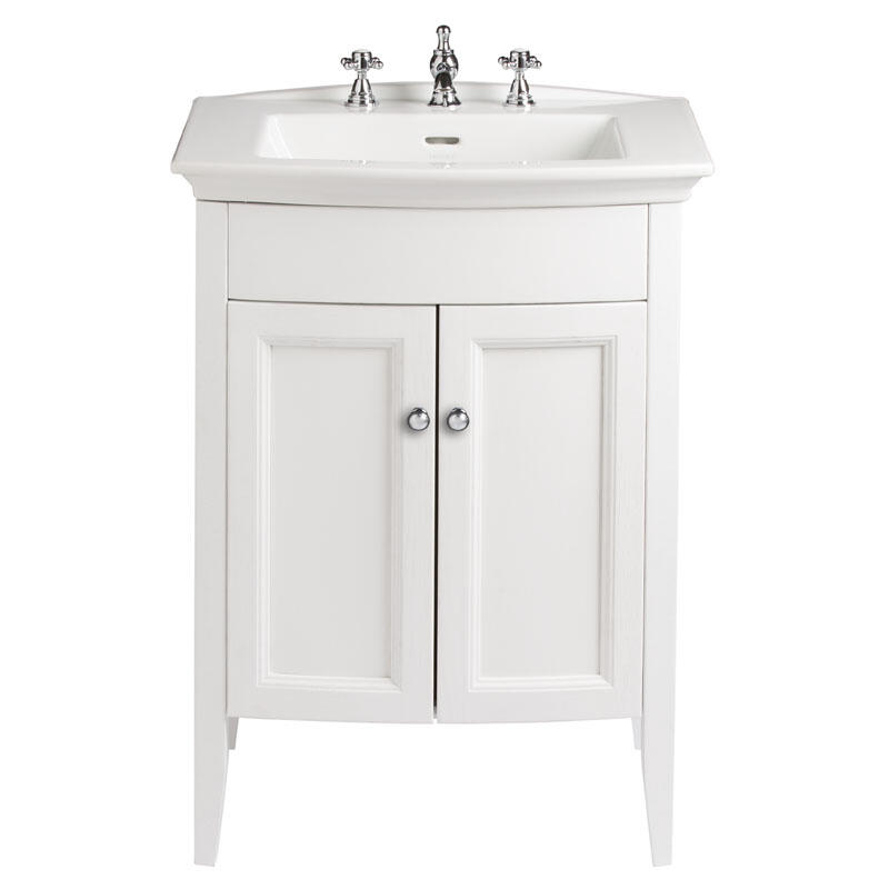 CLASSIC VANITY UNIT WITH BLENHEIM BASIN IN WHITE ASH FINISH