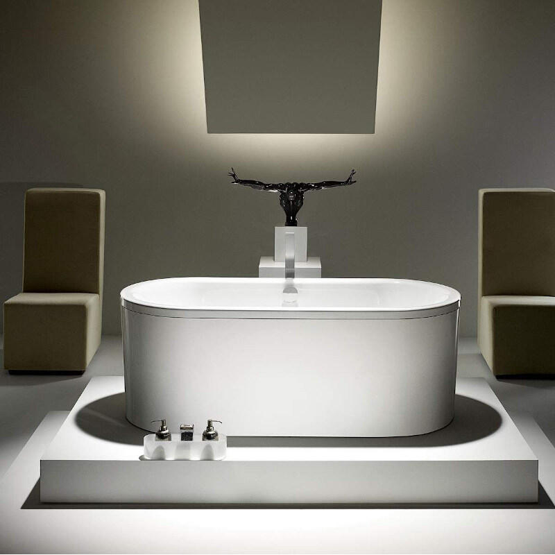 Centro Duo Oval Bath: 1700 x 750mm