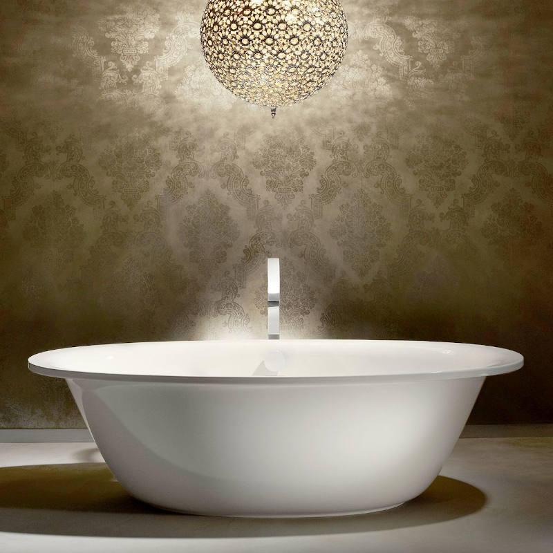 Ellipso Duo Oval Bath: 1900 x 1000mm