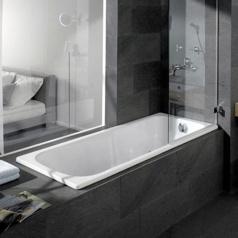 Dyna Set Bath: 1600 x 700mm, No Tap Holes