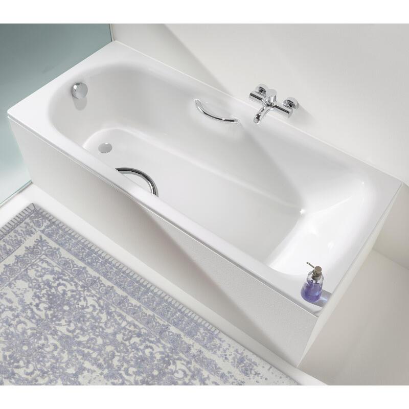 Saniform Plus Bath: 1400 x 700mm, No Tap Holes