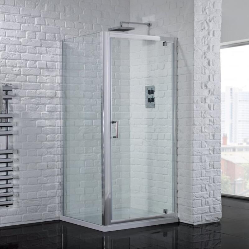 800 Pivot Shower Door & 800 side Panel