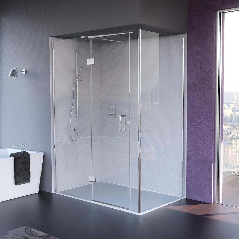 Illusion Shower Door with Tray - Left Hand Corner