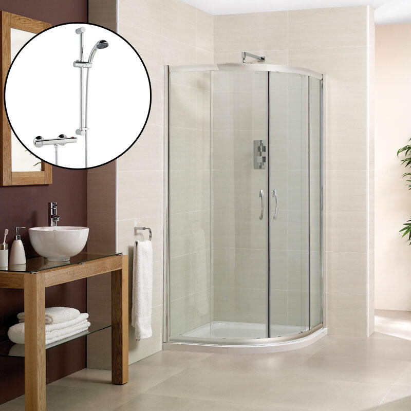 Shower Enclosure with Slimline Tray & Waste